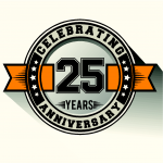 25th Anniversary Badge